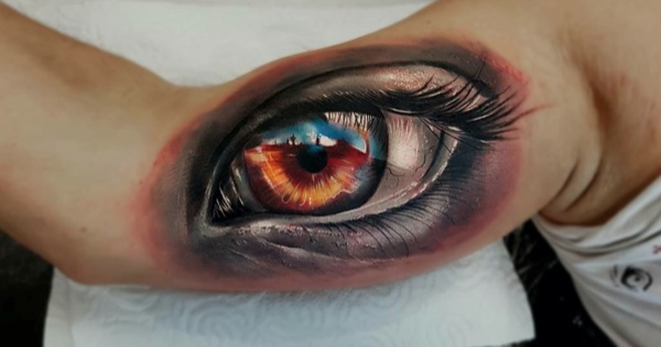 3D Realistic Eyeball Tattoos of the Day!