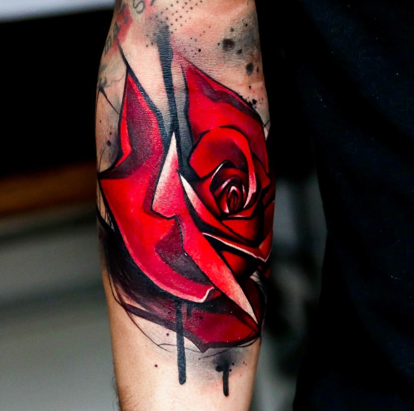 red rose tattoos