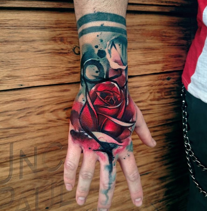 Red Rose Tattoos By Tattoo Artist Uncl Paul Knows