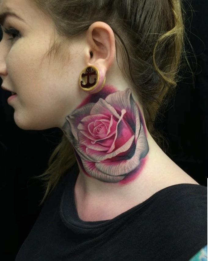 color rose tattoos