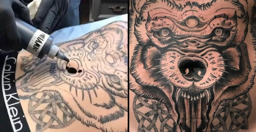Hardcore Bauchnabel Tattoo von Joseph Haefs