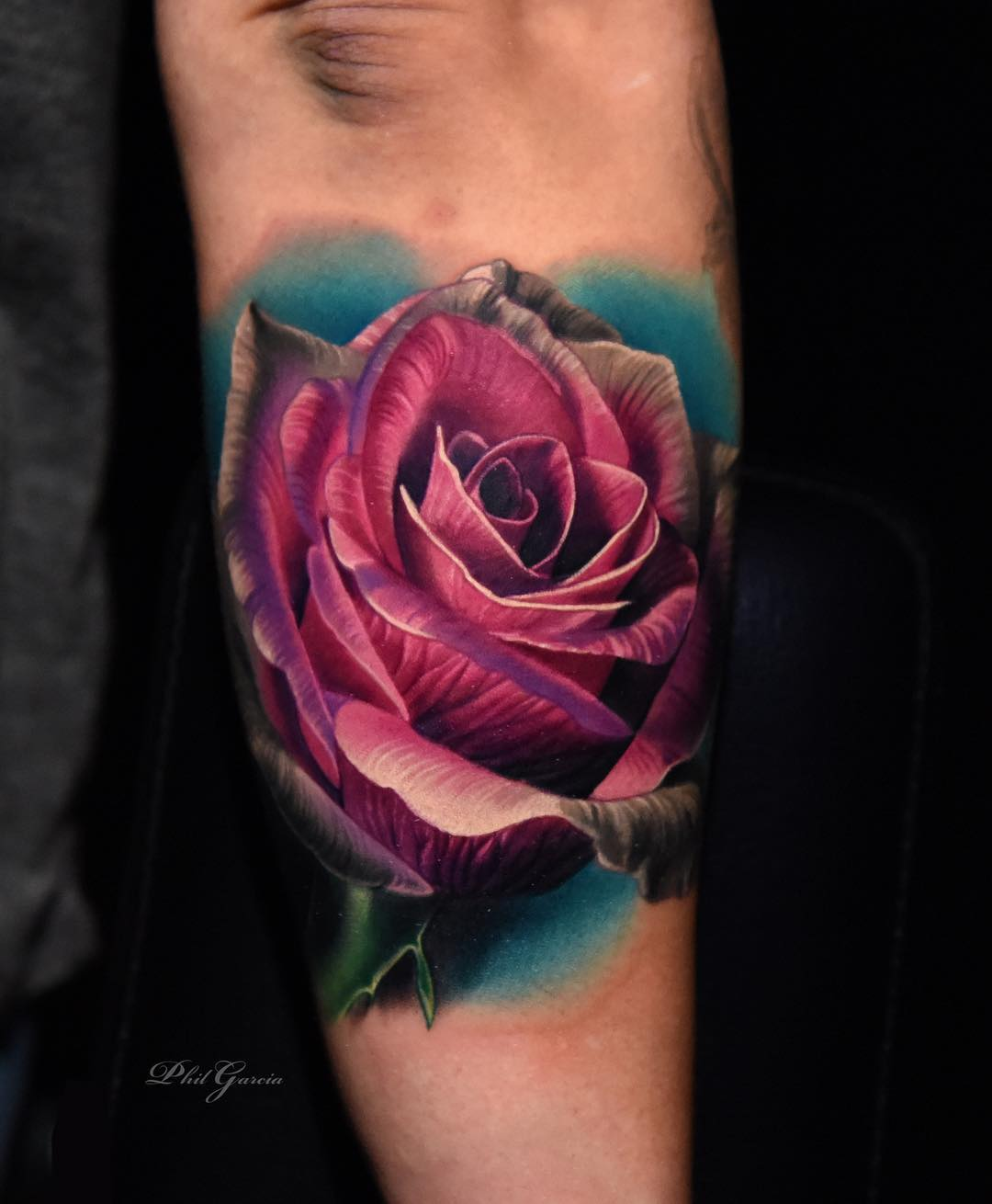 1211b4970 Check out Tattoo Artist Phil Garcia's Instagram Page for more amazing  tattoos! rose tattoo