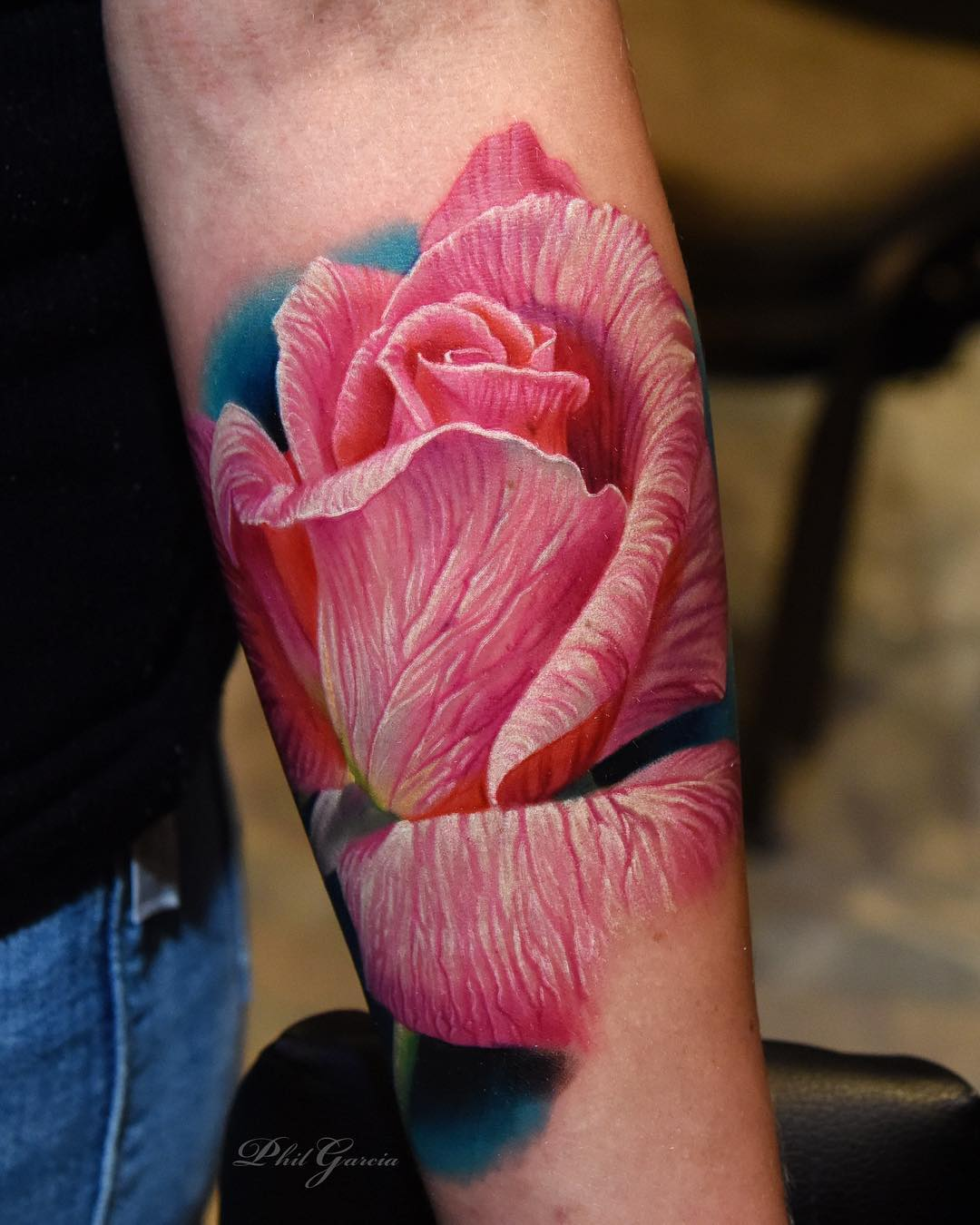 color rose tattoos