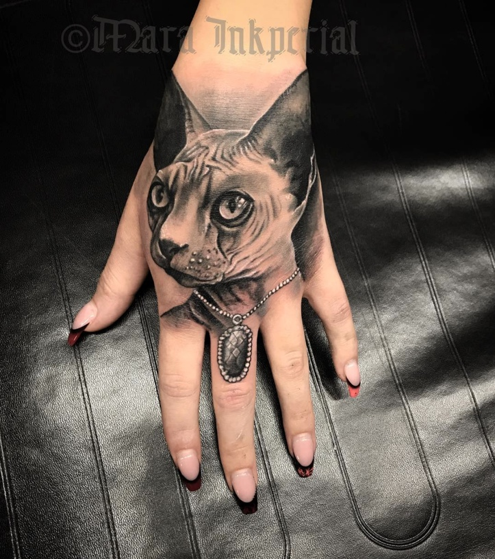 sphinx cat tattoo