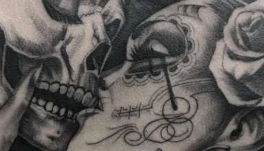 Hot tattooed lovers