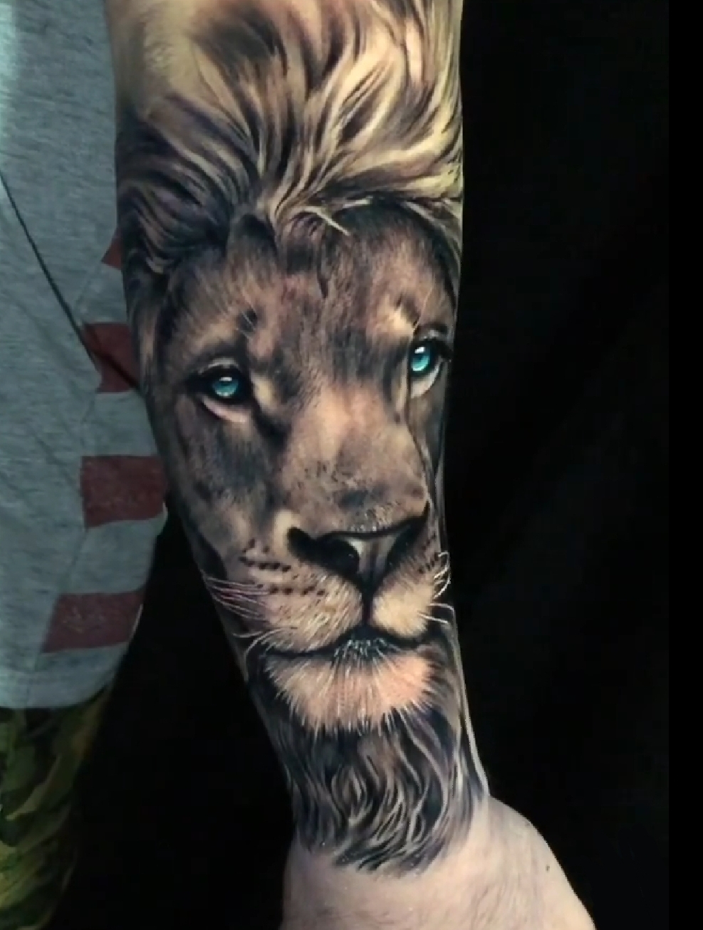 Lion Tattoo of the Day by Tattoo Artist Alec Turner