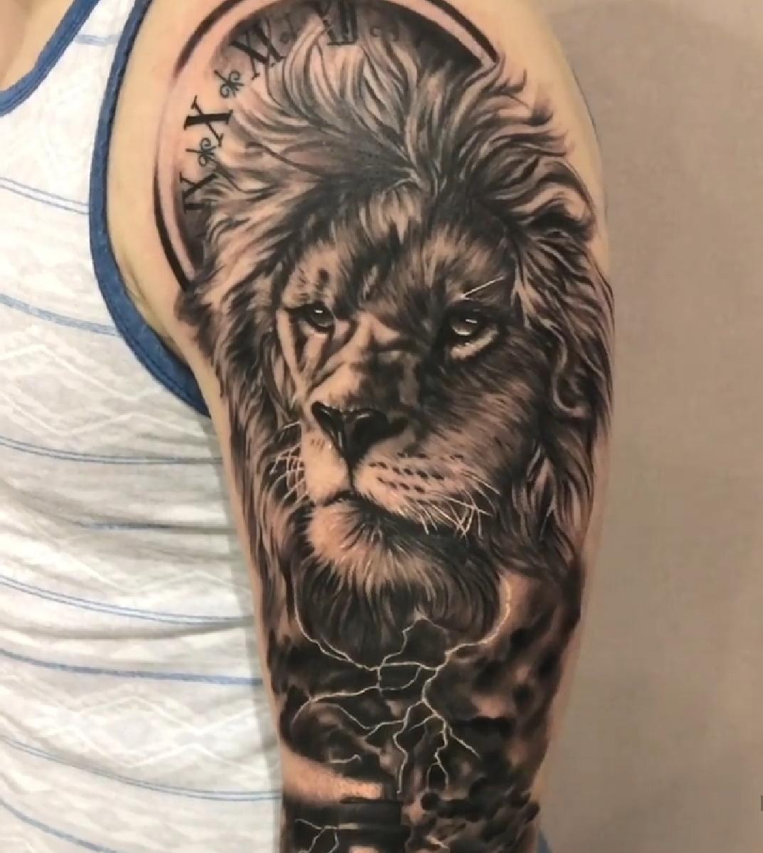 Lion Arm Tattoo by Alec Turner