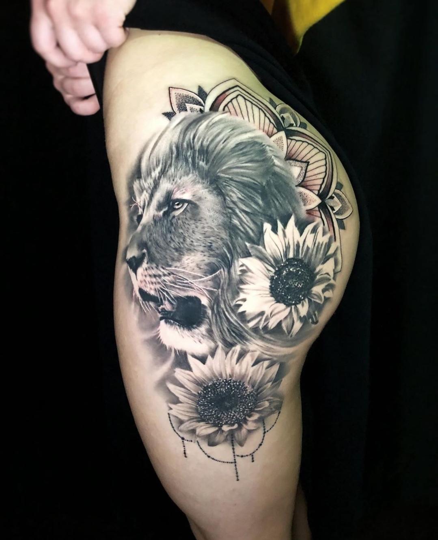 Lions Tattoos by Tattoo Artist Alec Turner