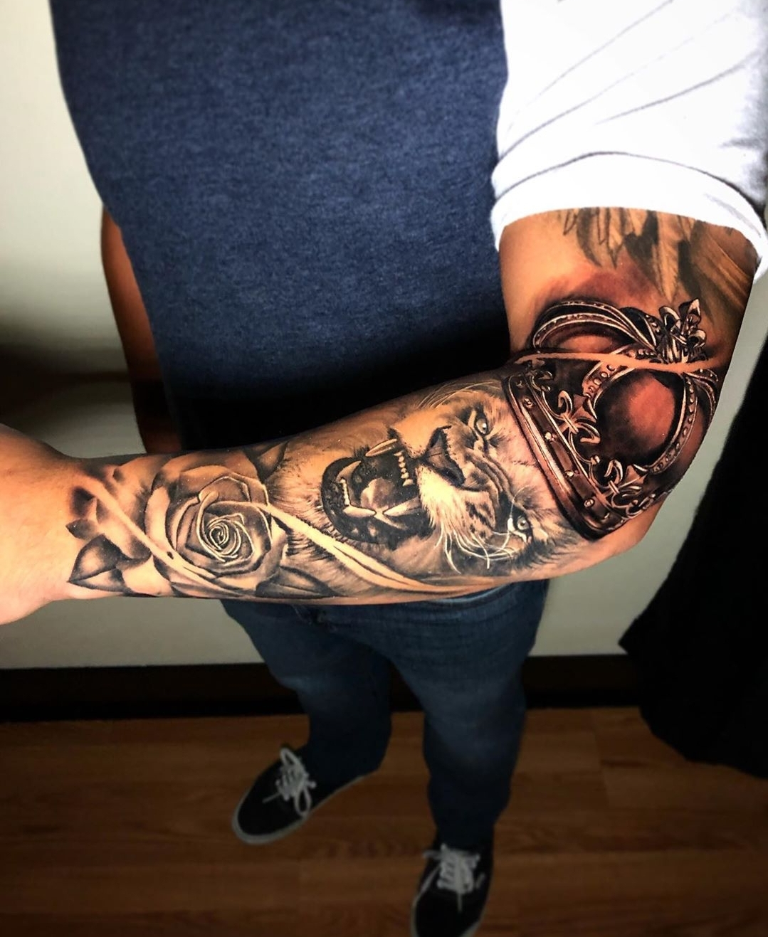 Lion Forearm Tattoo by Tattoo Artist Alec Turner