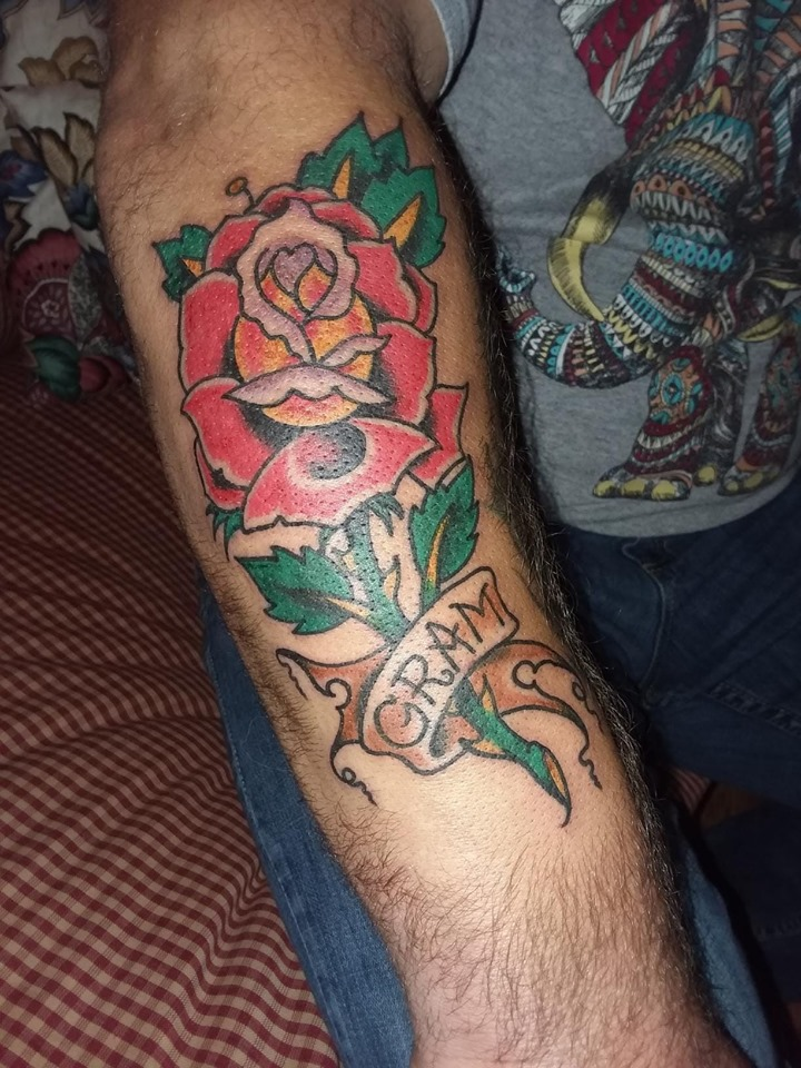 gram rose tattoo