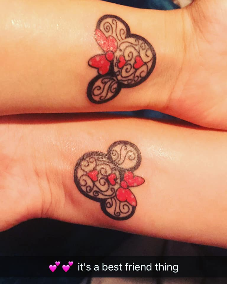 matching minnie mouse tattoos