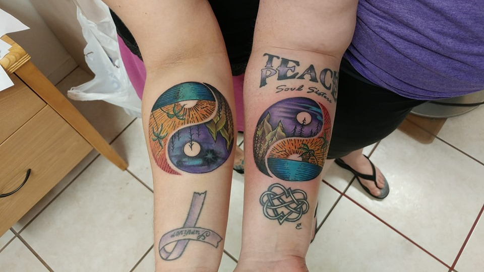 matching night day tattoos