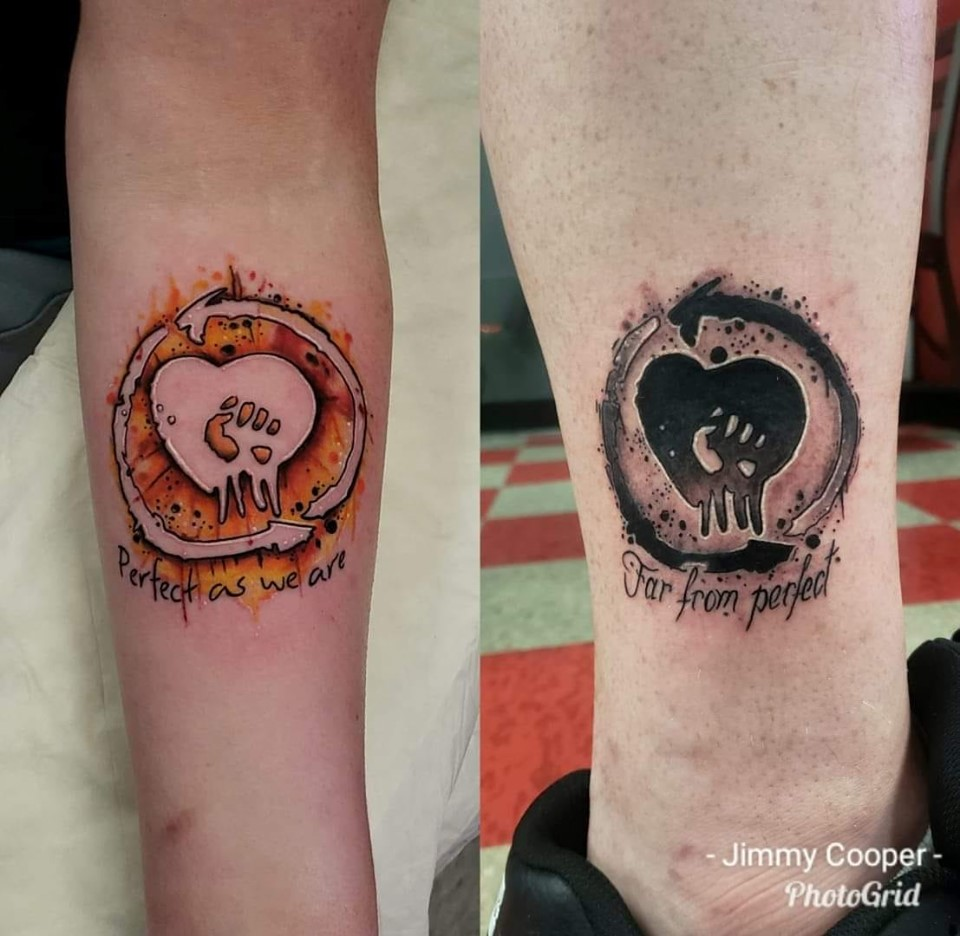 matching not perfect tattoos