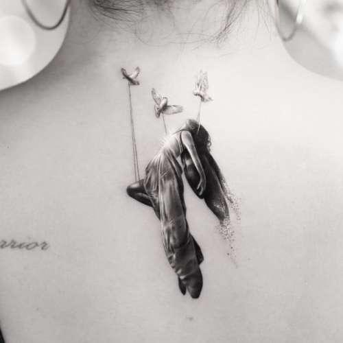demi lovato angel tattoo